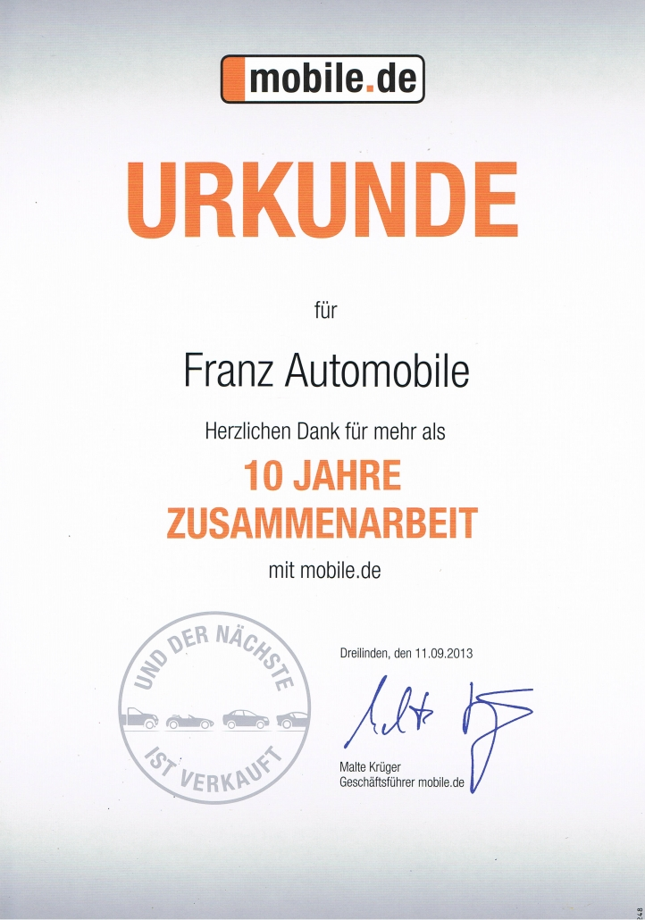 Franz Automobile Ihr Autohändler In Pinneberg
